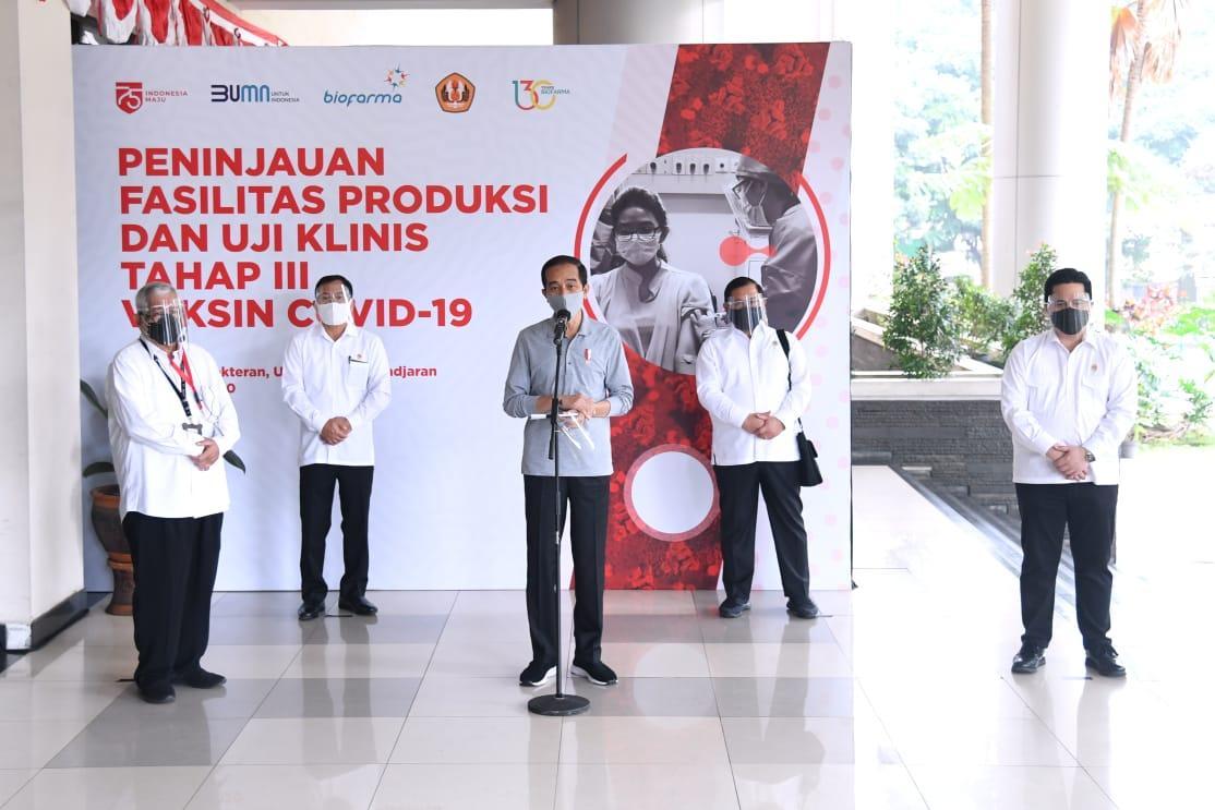 Presiden Jokowi Optimistis Vaksin Covid 19 Segera Ditemukan Sekretariat Negara